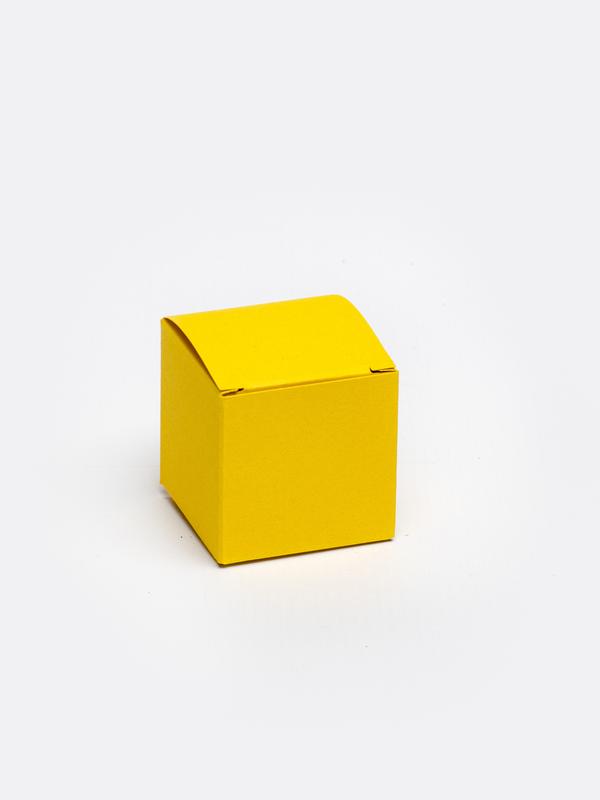 Oker kubus in karton om zelf te vullen