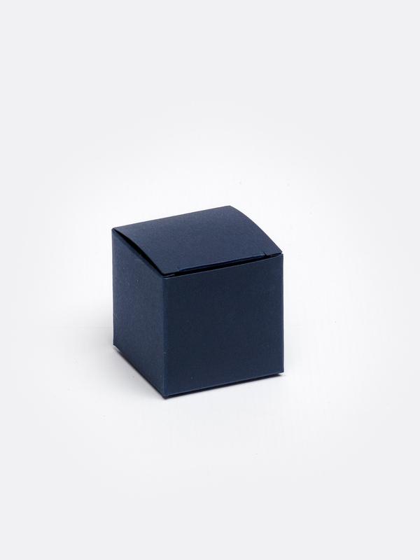 Marine blauwe kubus in karton om zelf te vullen