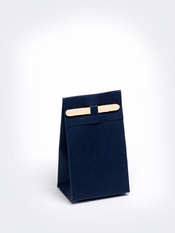 Marine blauw tasje met stokje om zelf te vullen