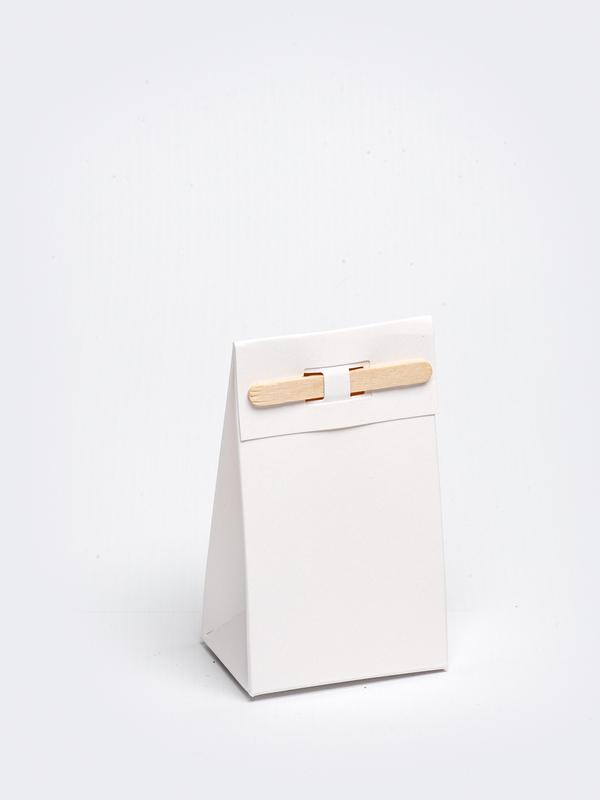 Wit tasje met stokje om zelf te vullen