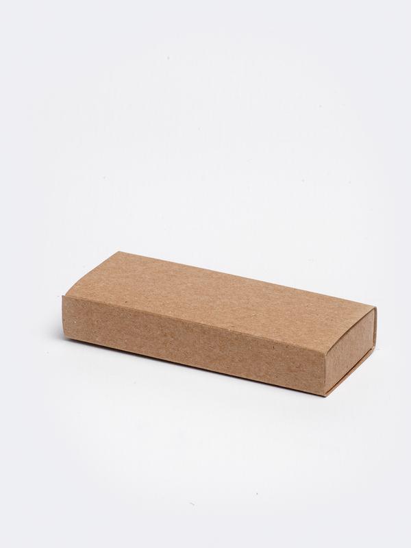 Kraft lang inschuifdoosje karton om zelf te vullen