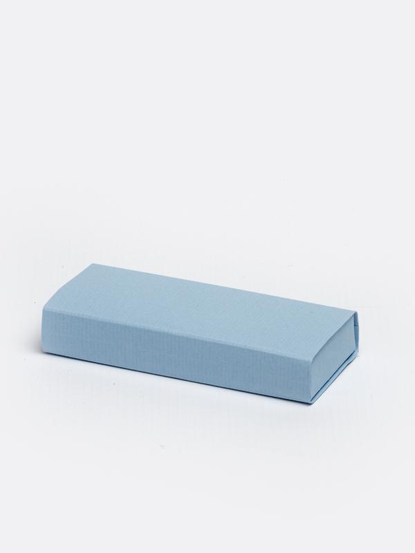 Licht blauw lang inschuifdoosje karton om zelf te vullen