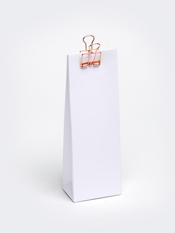 Wit hoog tasje in karton om zelf te vullen