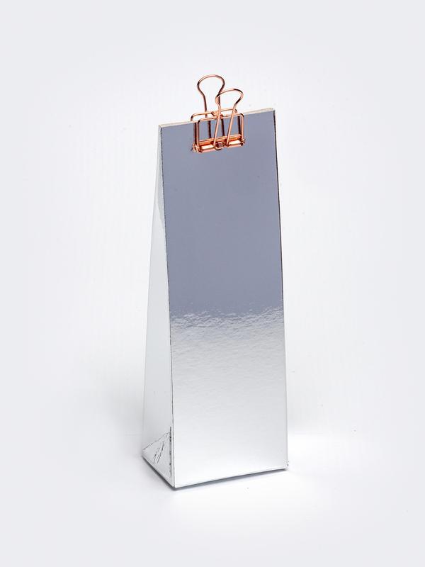 Zilver hoog tasje in karton om zelf te vullen