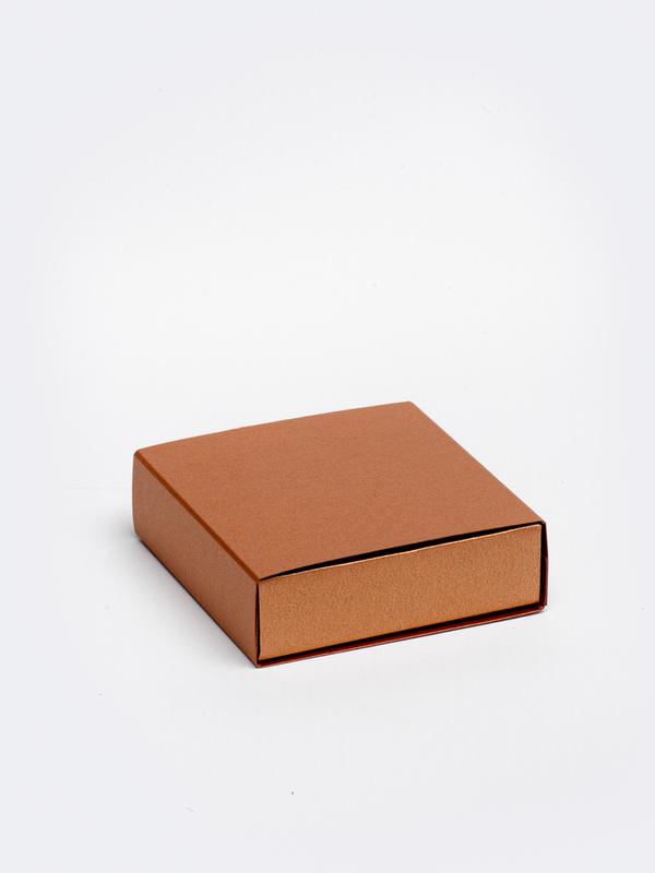 Koperen vierkante doos in karton om zelf te vullen