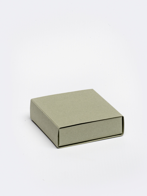 Jade vierkante doos in karton om zelf te vullen