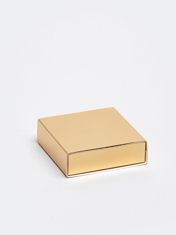 Gouden vierkante doos in karton om zelf te vullen